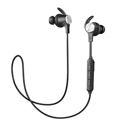 5d96a6a2abb Bluetooth Headphones, Wireless Bluetooth 4.1 Aptx Stereo Magnetic Earbuds  Snug Fit for Sports with Built