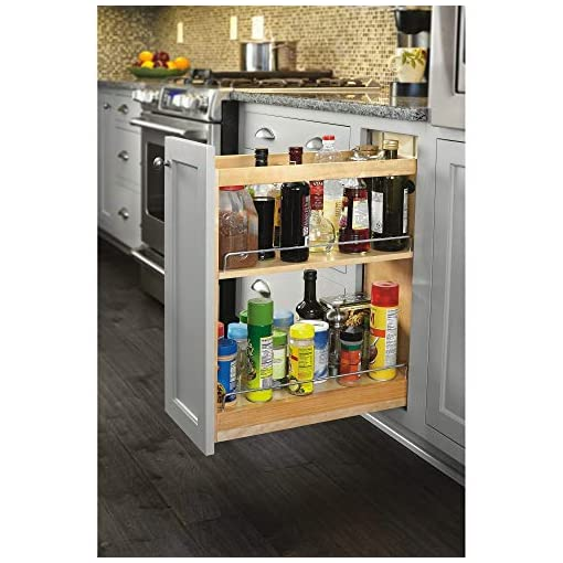 Kitchen Rev-A-Shelf 448-BCSC-5C 5 Inch Pullout Soft Close Kitchen Cabinet Storage Organizer, Wood Construction with Extra… pull-out organizers
