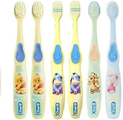 Oral-B Baby/Infant & Toddler Toothbrush, pro-Health Kids Stages for Little Children Ages 4-24 Months Old, (Pack of 6) – Assorted Characters