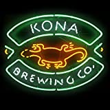 Urby Kona Brewing Company Real Glass Neon Light Sign Home Beer Bar Pub Recreation Room Game Room Windows Garage Wall Sign 19''x15'' A20-04