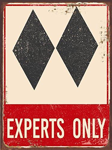OMSC Doble Diamante Metal Sign, esquí, Deporte, Invierno ...