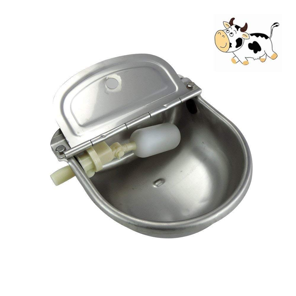 Lbzbz Automatic Water Heater with Dispenser, Automatic Stainless Steel Waterer Bowl Horse Goat Cow Pig Pig Dog Valve Float Water Trough Farm Supplies by Lbzbz