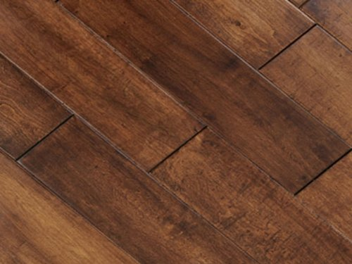 5 inch Greenland Multilayer Distressed Hand-Scraped Hardwood Maple Mocha Flooring (6 inch Sample)