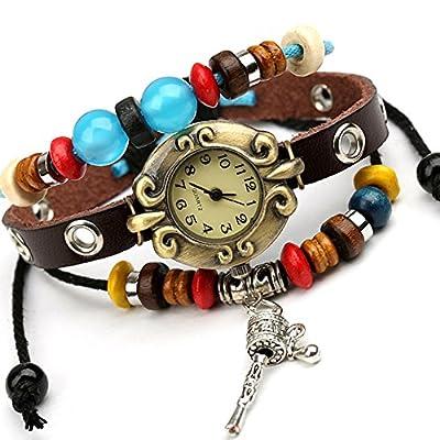 Punk watch?quartz watches, fashion, casual, ethnic style, leather, W0301
