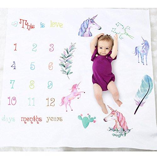 Baby Milestone Blanket Photography Background Prop: growing infants toddlers angju