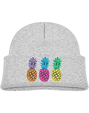Cute Pride Pineapple Printed Teething Baby Winter Hat Beanie