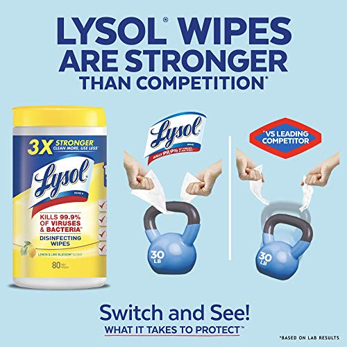 Large Product Image of Lysol Disinfecting Wipes, Lemon & Lime Blossom, 320ct (4X80ct),Packaging May Vary