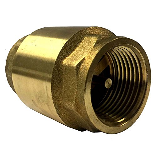 Libra Supply 2'', 2 inch, 2-inch Lead Free Brass Spring Check Valve, IPS Thread (Click in for more size options) 2' Spring Check