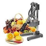 FOBUY Commercial Grade Citrus Juicer Hand Press Manual Fruit Juicer Juice Squeezer Citrus Orange Lemon Pomegranate (Grey)