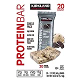 Kirkland Signature Protein Bars Cookies and Cream 2.12 oz, 20-count