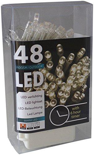 Led Lichterkette Batterie Timer 48 Leds für innen und außen: Amazon ...