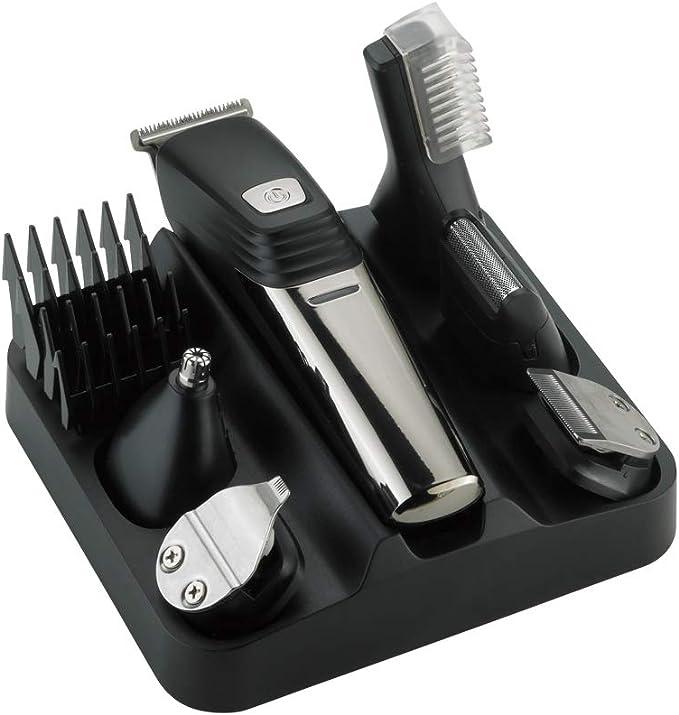 Afeitadora eléctrica para hombres, cortadora eléctrica 6 en 1 ...