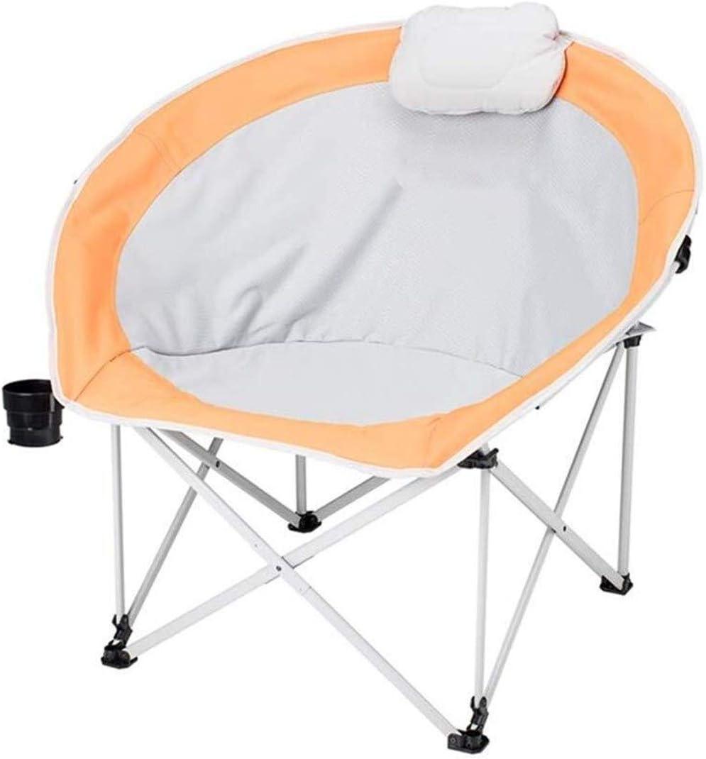 ポータブル折りたたみ椅子、軽量で耐久性のある色、オプションのハイキングキャンプチェア釣りチェア B112701 (Color : Orange)