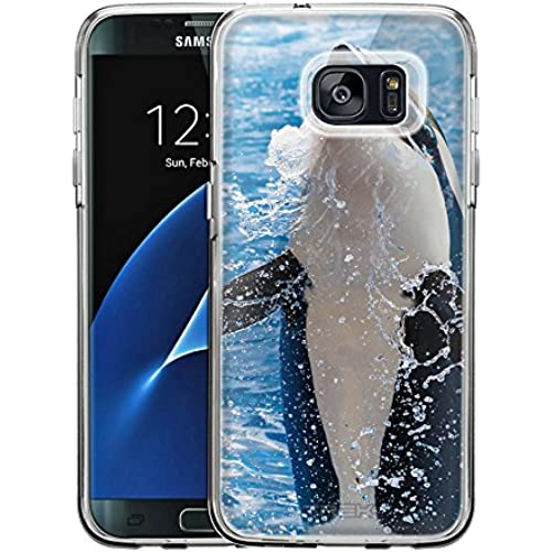 Samsung Galaxy S7 Edge Case, Snap On Cover by Trek Jumping Whale One Piece Trans Case Sales