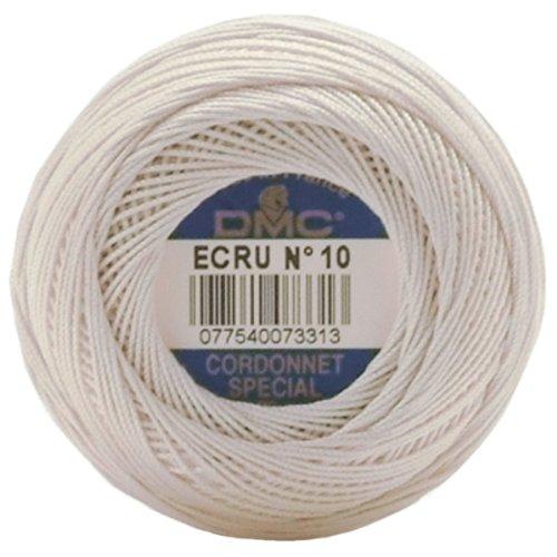 (DMC 151 70-Ecru Cordonnet Cotton, Ecru, 361-Yard, Size 70)