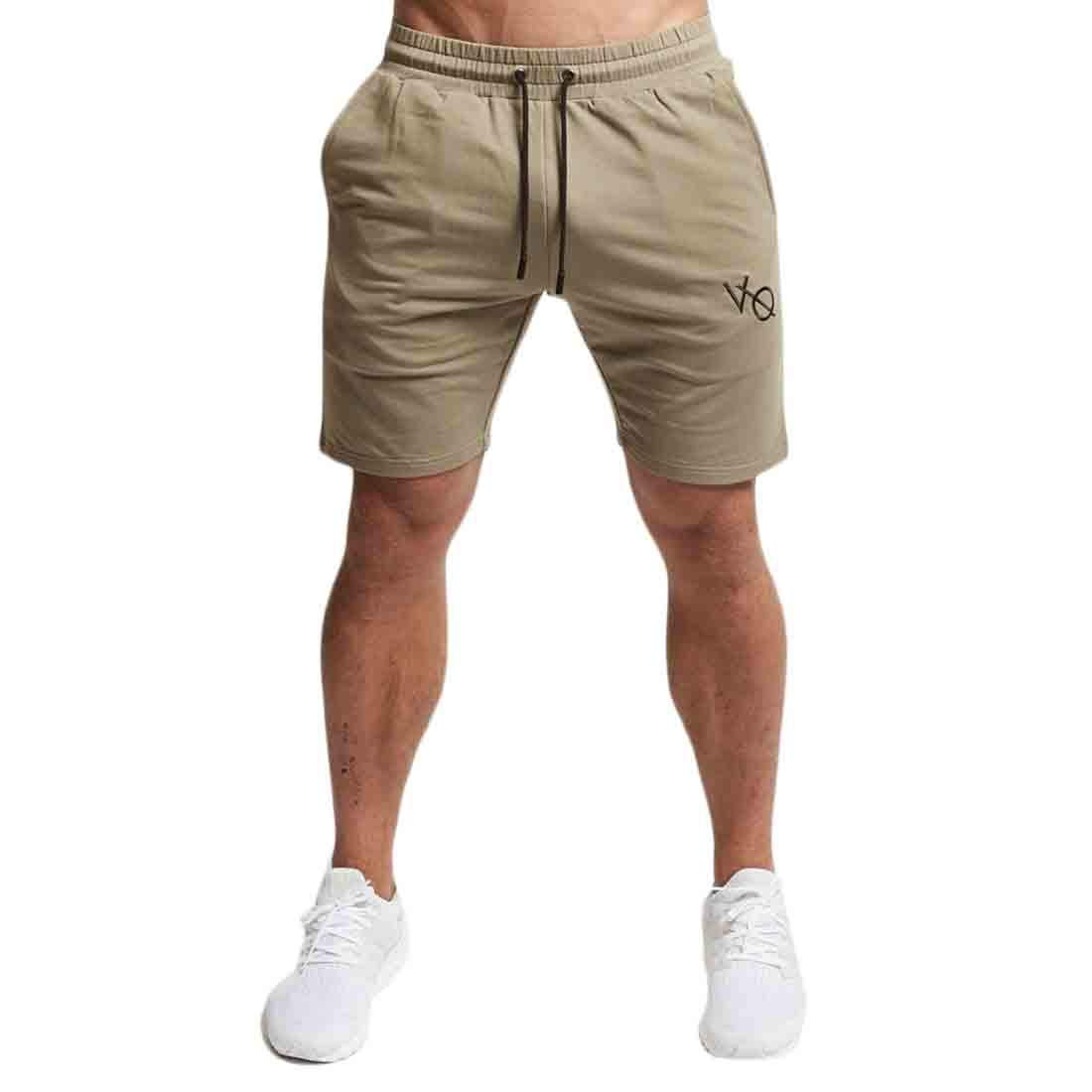 JXG Men Summer Elastic Waist Drawstring Casual Sport Running Trainning Beach Shorts Boardshort Swim Trunk
