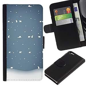Planetar® Modelo colorido cuero carpeta tirón caso cubierta piel Holster Funda protección Para Apple (4.7 inches!!!) iPhone 6 ( Winter White Blue Nostalgic )