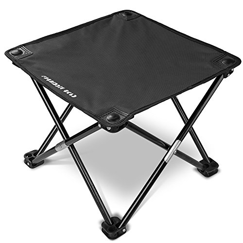 Forbidden Road Camping Stool Seat Tripod Stool Portable Folding Hiking Fishing Travel Backpacking Outdoor Stool 0.9lbs Lightweight Capacity 220lbs - Red Blue Green (Black, 13.7713.7711.8)
