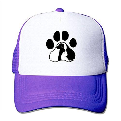 (Dog Cat Paw Adult's Baseball Cap Mesh Adjustable Trucker Hat for Men Women)