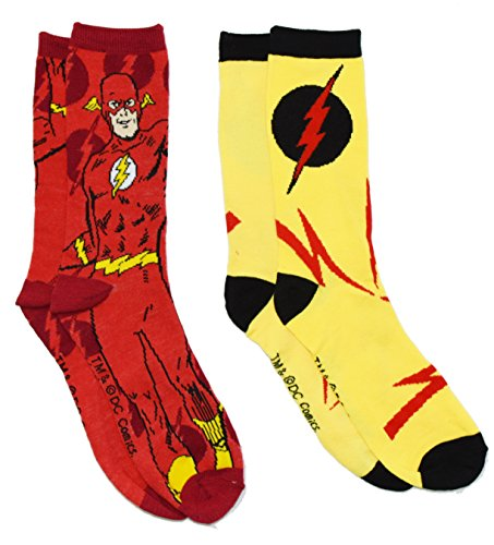 The Flash Reverse Flash Lightning Bolts Crew Socks 2 Pair Pack
