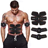 #8: Mega Shop Muscle Toning Belt Wireless Electronic Abs Abdominal Electric Massager Two Tone Toner Body Tummy Training Gear for Arm Abdomen Stimulator Exerciser