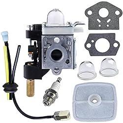 Jahyshow Carburetor Fuel Maintenance Kit Spark Plug for ECHO GT200 GT201i HC150 HC151 PE200 PE201 PPF210 PPF211 SRM210 SRM211 Trimmer / Brushcutter HC200 HC201 Pole pruner RB-K75 w/ Gasket Primer Bulb