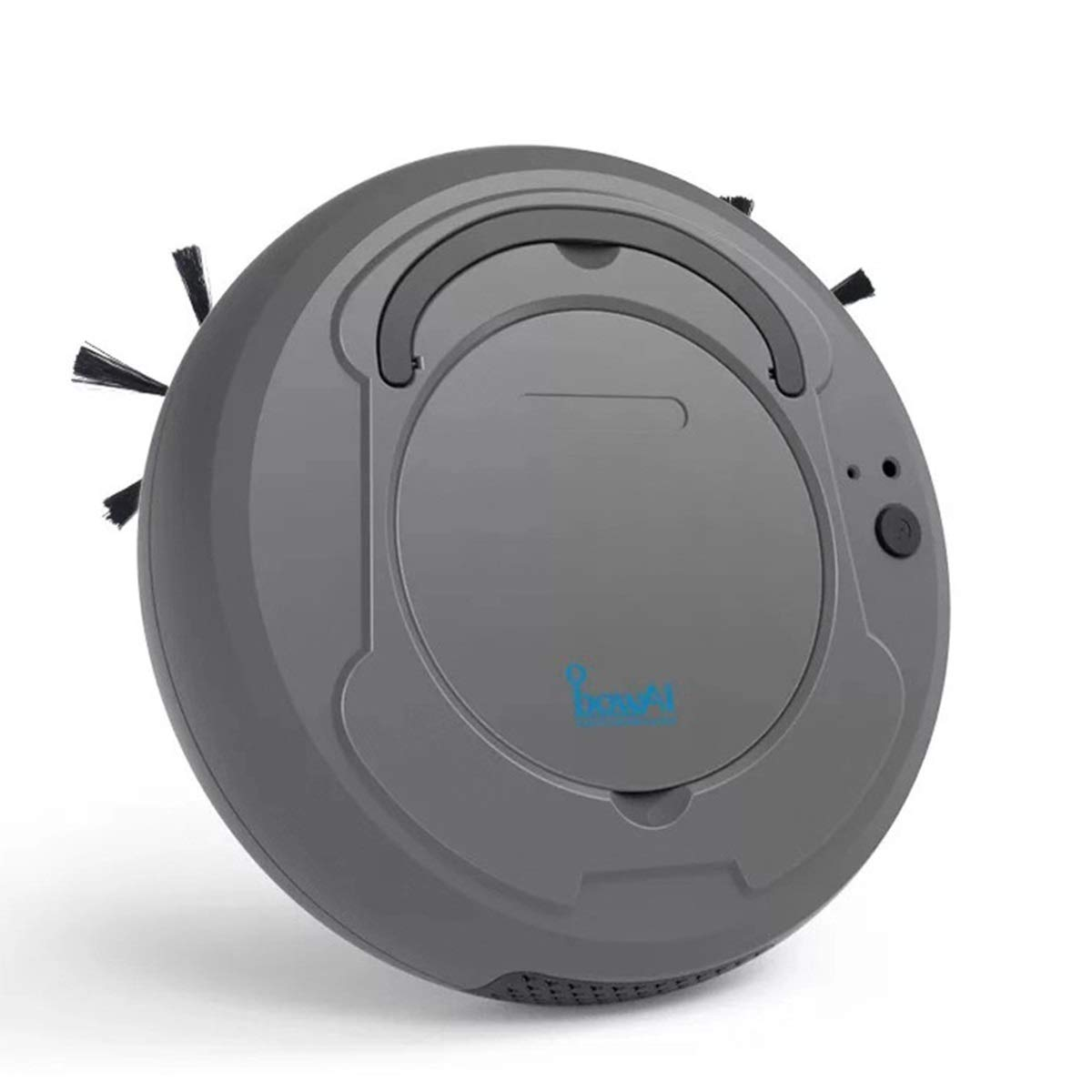 Robot Vacuum Cleaner Sweeping Mopping Dust Pet Hair Cleaning 1800Pa Strong Suction Carpet and All Floor Types (Color : Grey)