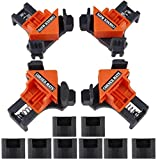 Beduan 4PCS Right Angle Clamp Adjustable Swing 90