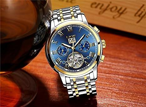 Amazon.com: Relojes de Hombre Cronógrafo De Cuarzo De Moda Para Caballero Movimiento Suizo Caja de Acero Inoxidable 2018 Nueva Colección RE0099: Watches