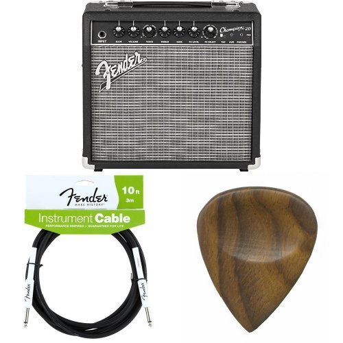 Fender Champion 20 – 20-Watt Electric Guitar Amplifier with Cable and Picks