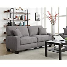 Serta at Home Sofa2Go Kona Collection Sofa, Gray Fabric, 73-Inch, CR45234B