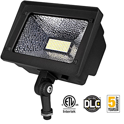 LED Floodlight 50W IP65 Waterproof Outdoor Security Fixture, 4500 Lumens 5000K Day White for Garden lawnpatio Home Yard Hotel 120-277V, Security Area Lighting, ETL DLC Listed Exterior Sign Light