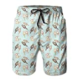 Sukuraceci Men's Love Sea Otters Couples Boardshorts Beach Shorts