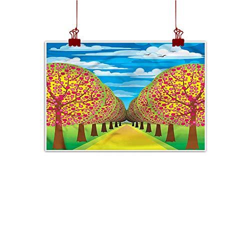 Cherry Hill Bar Wine (Mangooly Decorative Music Urban Graffiti Art Print Tree of Life,Flowering Cherry Trees 32