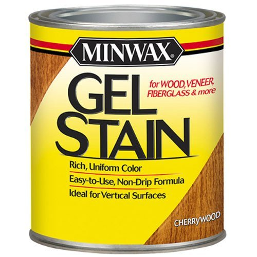 - Minwax 260704444 Interior Wood Gel Stain, 1/2 pint,  Cherry, 1/2/ Pint