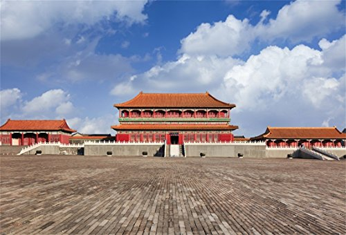 CSFOTO 5x3ft Background for Forbidden City China Photography Backdrop Square Chinese Ancient Architecture Imperial Power Chinese Style Classical Holiday Vacation Tour Studio Props Wallpaper ()