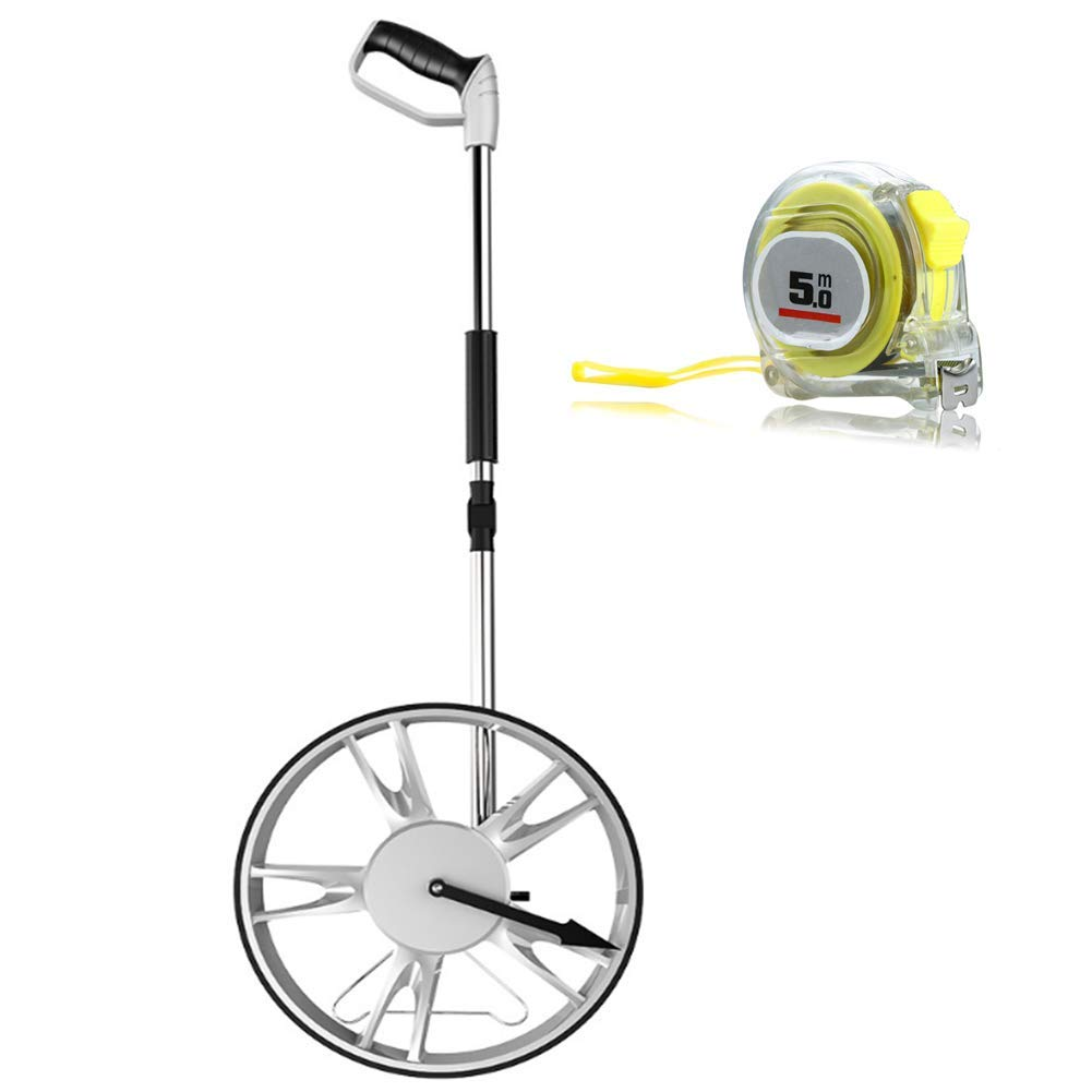 GCJLCLL Collapsible Measuring Wheel,Distance Measuring Wheel,Mechanical Gear Counter with Tape Measure for Measure Road Land by GCJLCLL