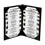 10-Pack 8-1/2'' x 11'' ''Classy'' Double Panel Pocket Menu Cover Leatherette
