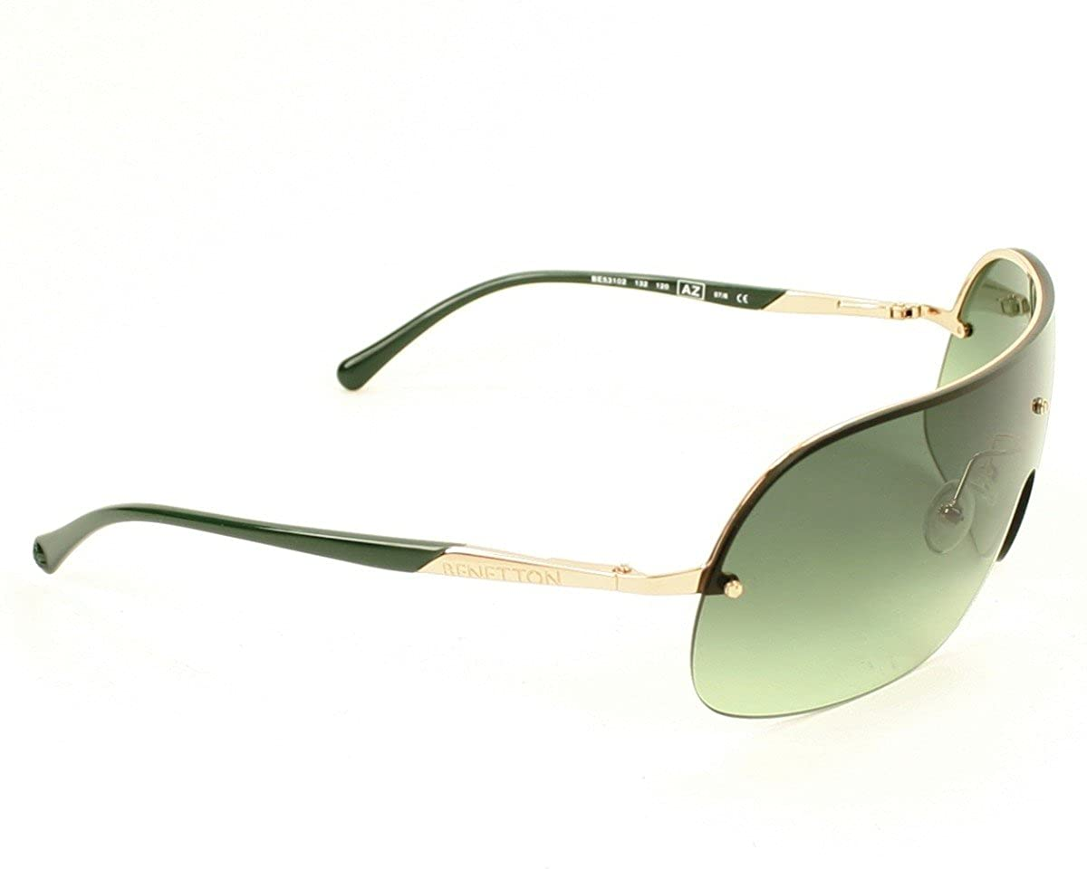 Amazon.com: Benetton Sunglasses BE 531 02 Metal Gold Green ...