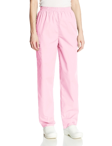 Cherokee Women's Workwear Scrubs Pull-On Cargo Pant, Pink Blush, X-Large-Tall by Cherokee