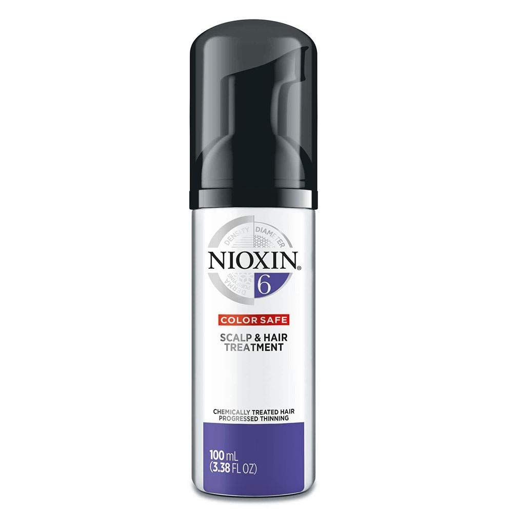 Nioxin Scalp & Hair Leave-In Treatment, System 1-6 for Fine/Natural and Color/Chemically-Treated Hair with Thinning