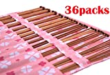 Bamboo Knitting Needles Set, Single Pointed Carbonized for Beginner and Professinal in Knitting Case Organizer( 36-Pack Crochet Set ) for Wool
