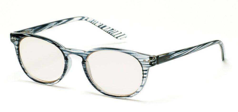 87fd1b4e7412 Amazon.com: Retro Computer Reading Glasses for Women Men Anti-Glare Eye  Strain Blue Light UV Blocking Protection (Zebra, Strength +0.50): Health &  Personal ...