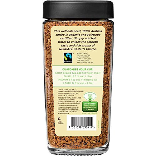 Amazon.com : Nescafe Tasters Choice Organic Instant Coffee 8.6oz : Grocery & Gourmet Food