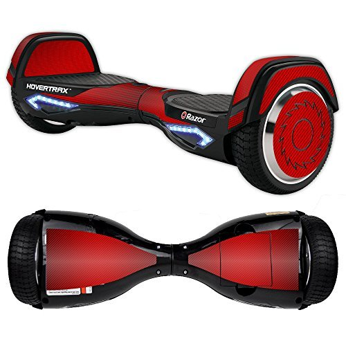 MightySkins Skin Compatible with Razor Hovertrax 2.0 Hover Board - Red Carbon Fiber | Protective, Durable, and Unique Vinyl wrap Cover | Easy to Apply, Remove, and Change Styles | Made in The USA