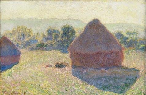 Oil Painting 'Haystacks In The Sunlight, 1890 By Claude Monet' Printing On Perfect Effect Canvas , 8x12 Inch / 20x31 Cm ,the Best Bar Gallery Art And Home Decoration And Gifts Is This Imitations Art DecorativePrints On Canvas Sunlight Villager