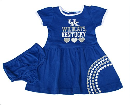 Bloomer Costumes (Kentucky Wildcats Infant Girls Size (2T) NCAA Authentic Dress Skirt Costume w/ Bloomers 2-Piece Set - Toddler Team Colors)