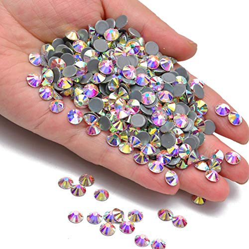288pcs Hotfix Quality Crystal Rhinestones Flatback Nail Art Pick Color (Crystal AB, 30ss ()