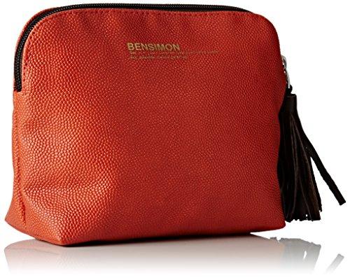 Bensimon New Pocket - bolso de mano Mujer Naranja (Dark Orange)
