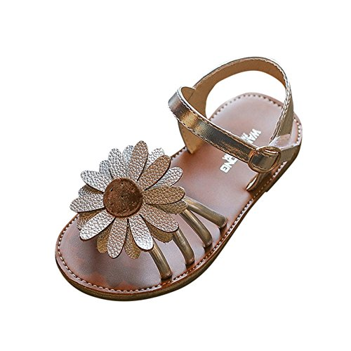 (♡QueenBB♡ Baby Girl Sandals Shoe,Toddler Kids Baby Princess Shoes Girls Sandals Flower Roman Sandals Princess Shoes)